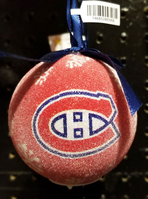 Montreal Canadians Ornament