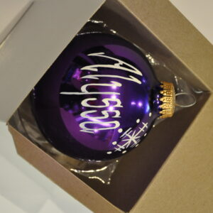 Purple Christmas Name Ball