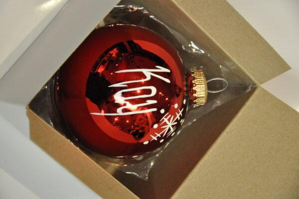 Red Christmas Name Ball