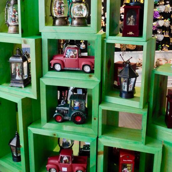 Assortment of Lanterns on a shelf